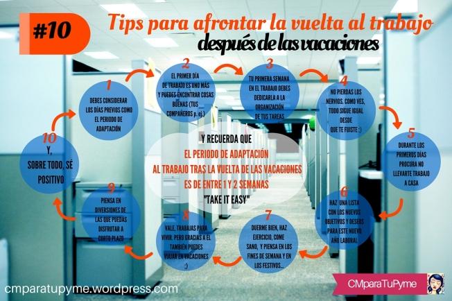 10 tips para afrontar la vuelta al trabajo después de las vacaciones